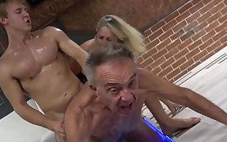 Elderly Gunther Cuckolding his Slutty Mature Wife