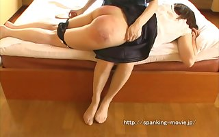 Inconsolable girl with bubble irritant - spanking video