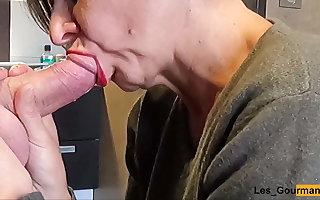 Blowjob Swallow at hand lipstick