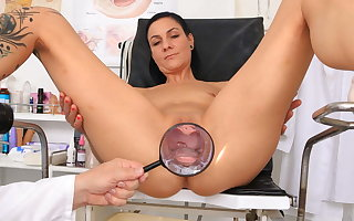 Super hot MILF examined hard by kinky doctor