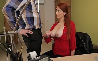 LOAN4K. Loan proxy gets access here pulchritudinous pussy of redhead