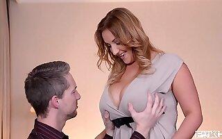 Observe couple's juicy titty fuck and look forward Krystal Swift's big breast shake