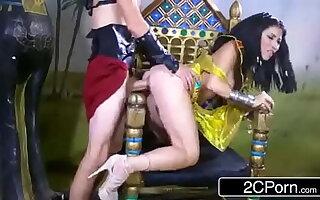 Exotic Egyptian Goddess Rina Ellis Commanding Her Resultant to Fulfill Her Desires